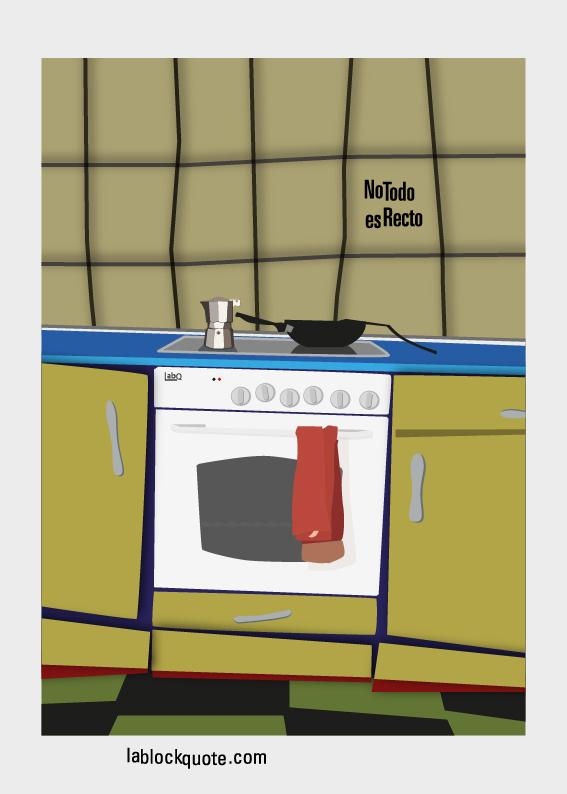 cartel de una cocina azarosa
