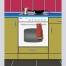 Dibujo vectorizado de mi cocina y caftera rota.