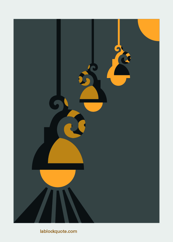 Cartel: Que la luz te acompañe