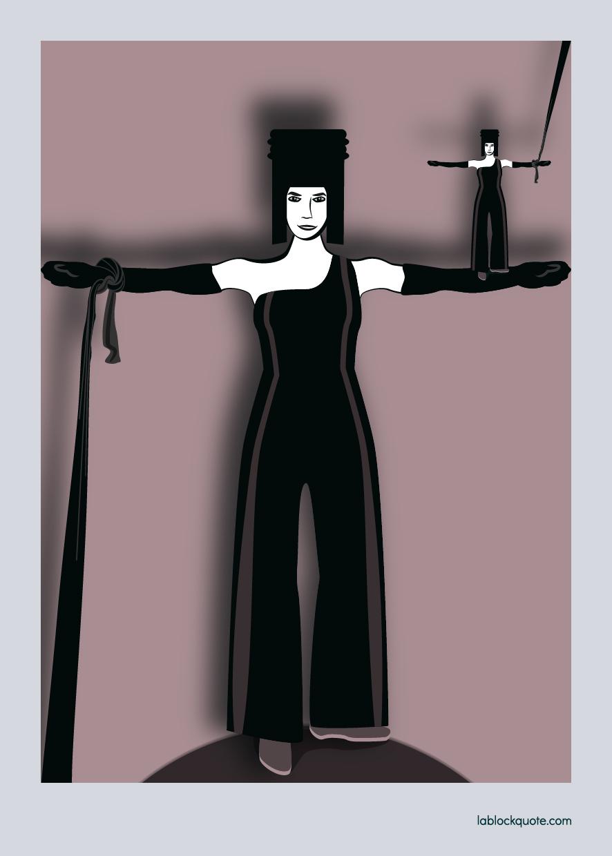 Mujer haciendo equilibrio